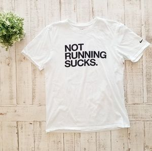Nike Not Running Sucks Short Sleeve Tee Shirt